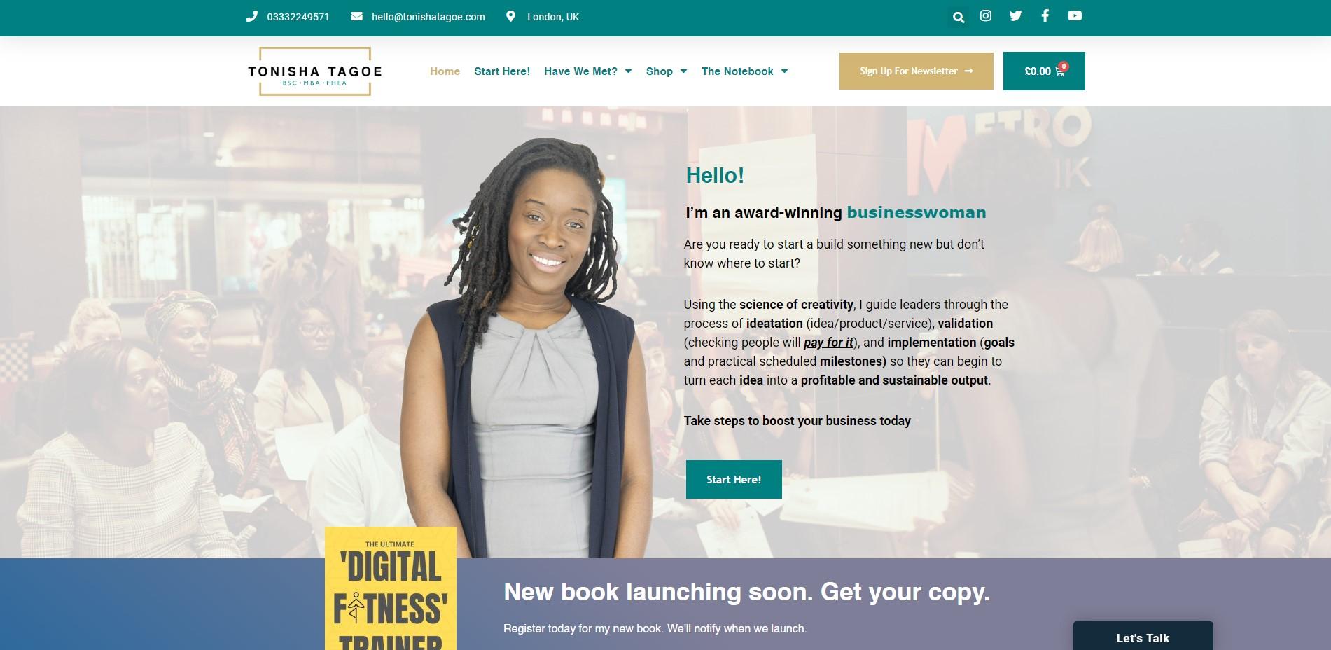 1. Tonisha Tagoe - Homepage